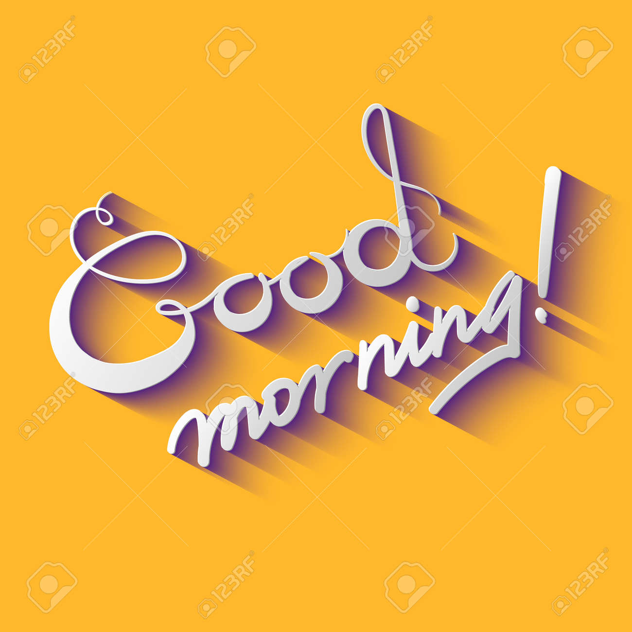 good morning vector design illustration royalty free cliparts