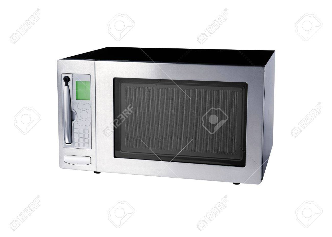 microwave oven isolated on white - 9523508