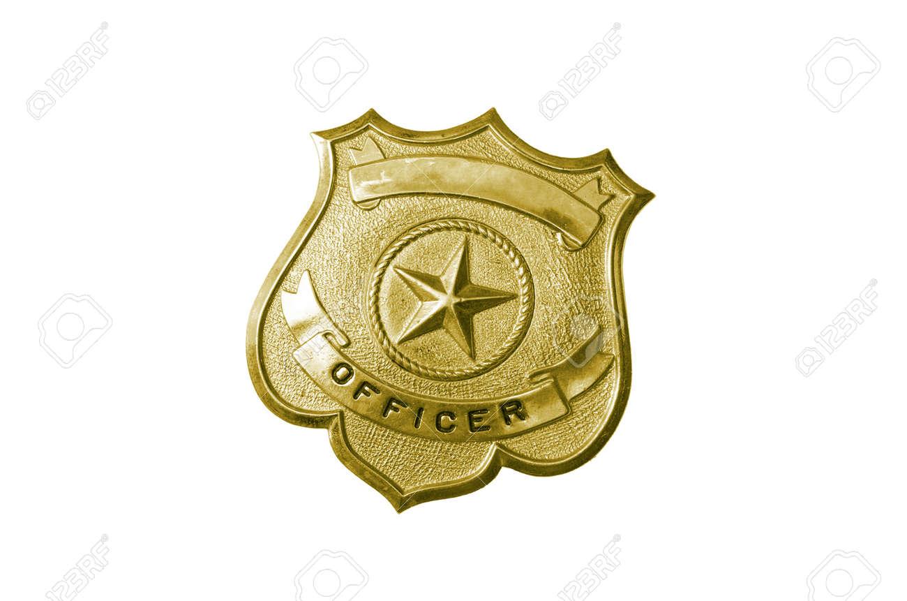 Hermosa Insignia De Oficial De Policía Para Colorear Embellecimiento ...