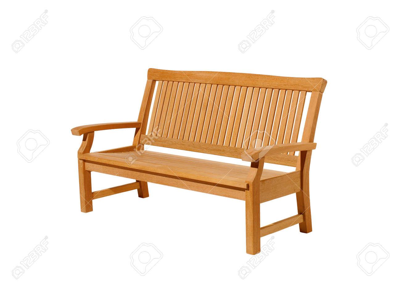 Bench Isolated On White Background Stock Photo - 9586421