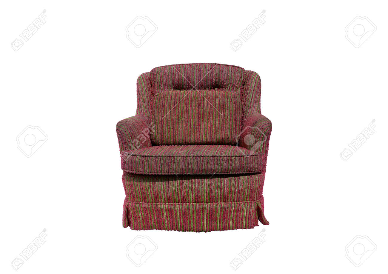 Bright Armchair isolated on white with a drop shadow. Stock Photo - 9838487