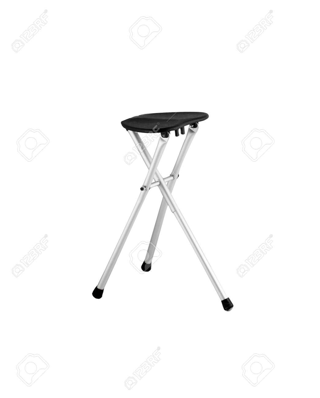 Peachy Shiny Metal And Black Leather Bar Stool Isolated On White Creativecarmelina Interior Chair Design Creativecarmelinacom