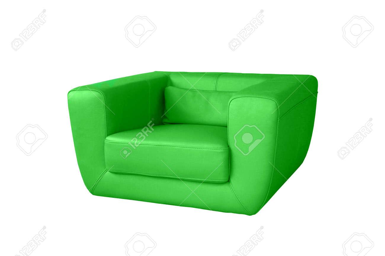 banque dimages chaise verte isole sur un fond blanc - Chaise Verte