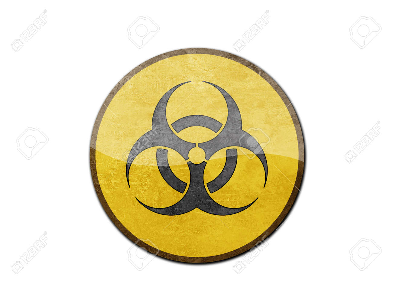 Biohazard sign isolated on a white background Stock Photo - 25767271