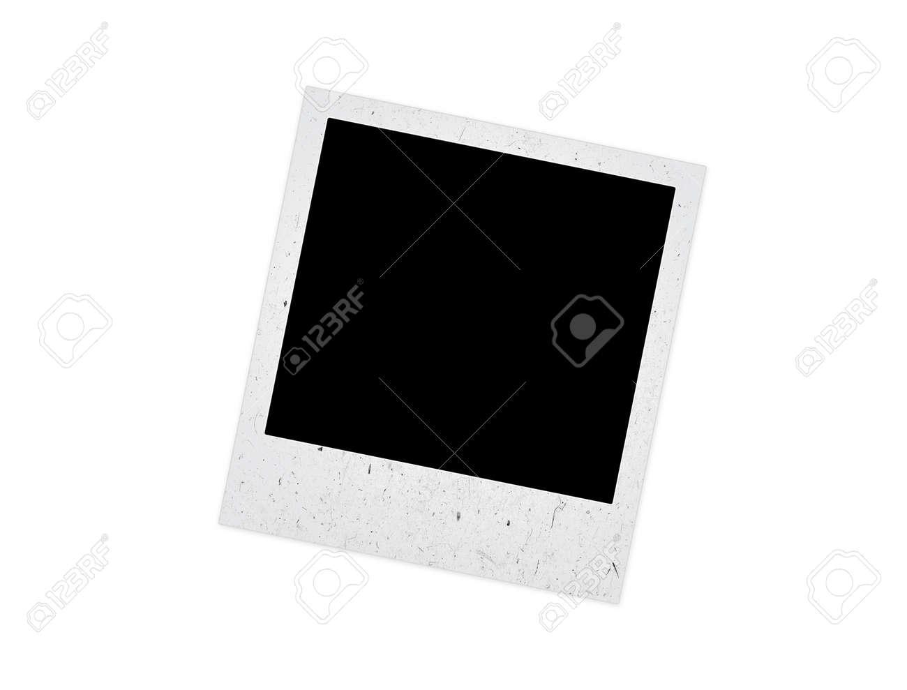 Alte Polaroid-Rahmen Auf Weißem Hintergrund Lizenzfreie Fotos ...