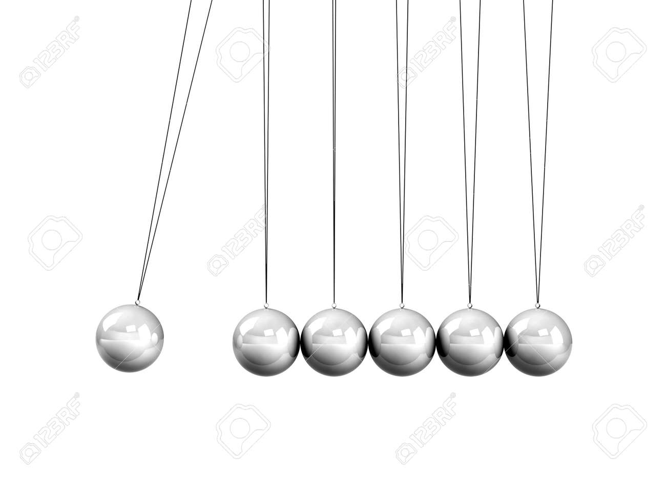 Collision Balls close up isolated on white background Stock Photo - 26225328