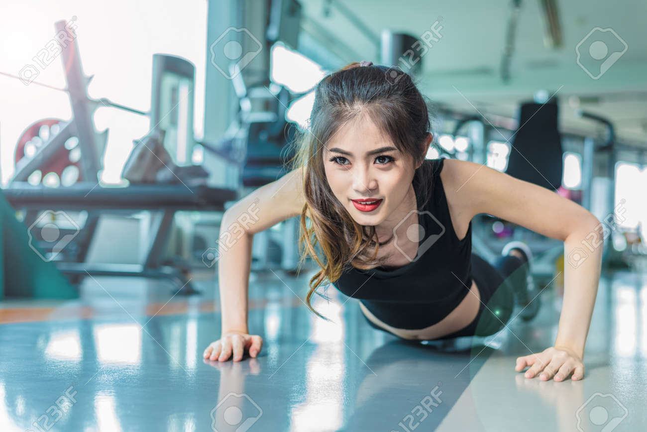 Asian woman fitness