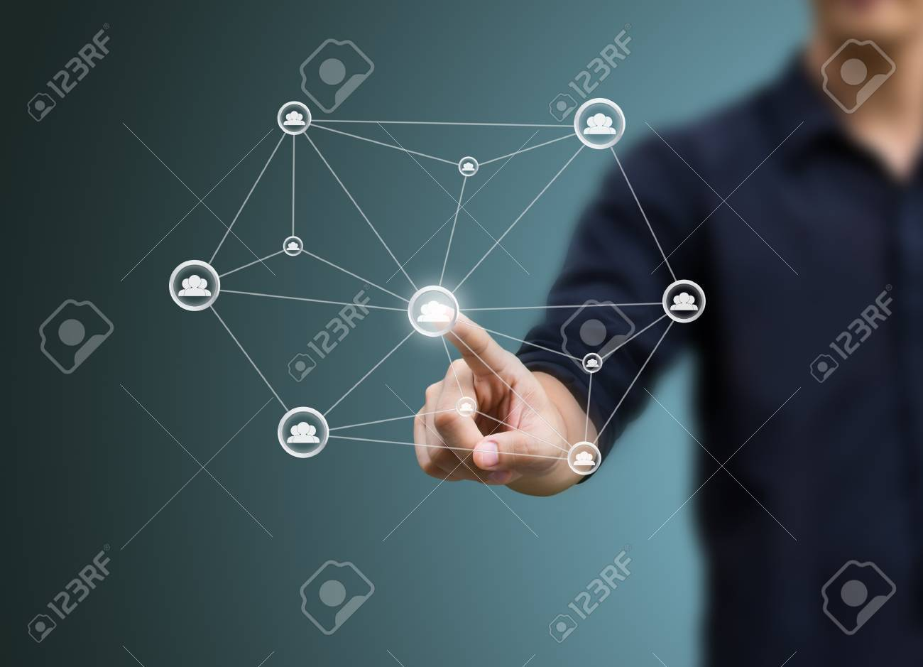 social network structure Stock Photo - 15380899
