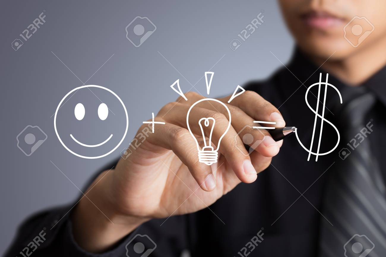 Business man writing investment concept Stock Photo - 21427502