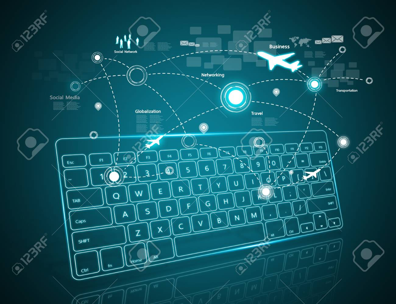 Computer Keyboard As Symbol Of High Technology Stock Photo Picture