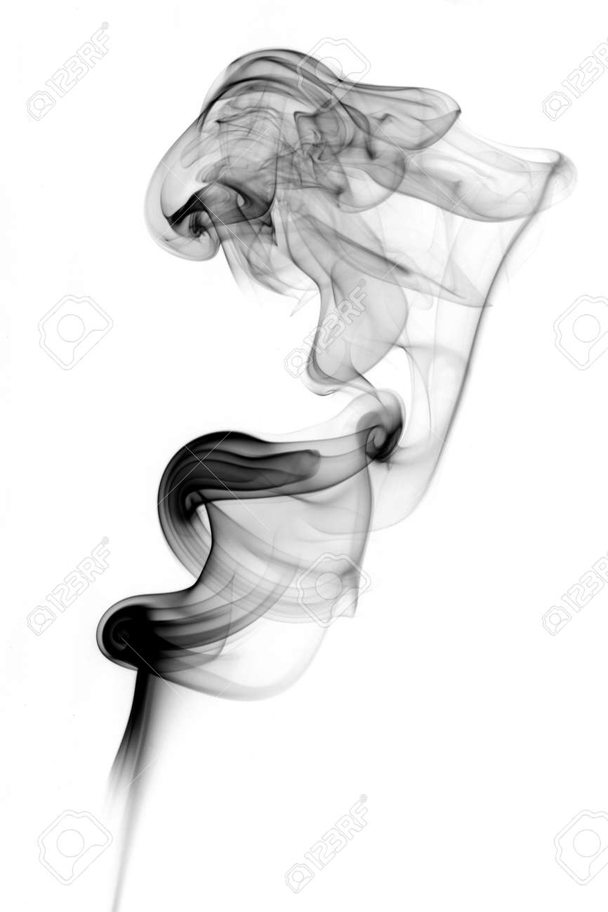 abstract shape of incense smoke looks a bit like a lion Stock Photo - 2330873