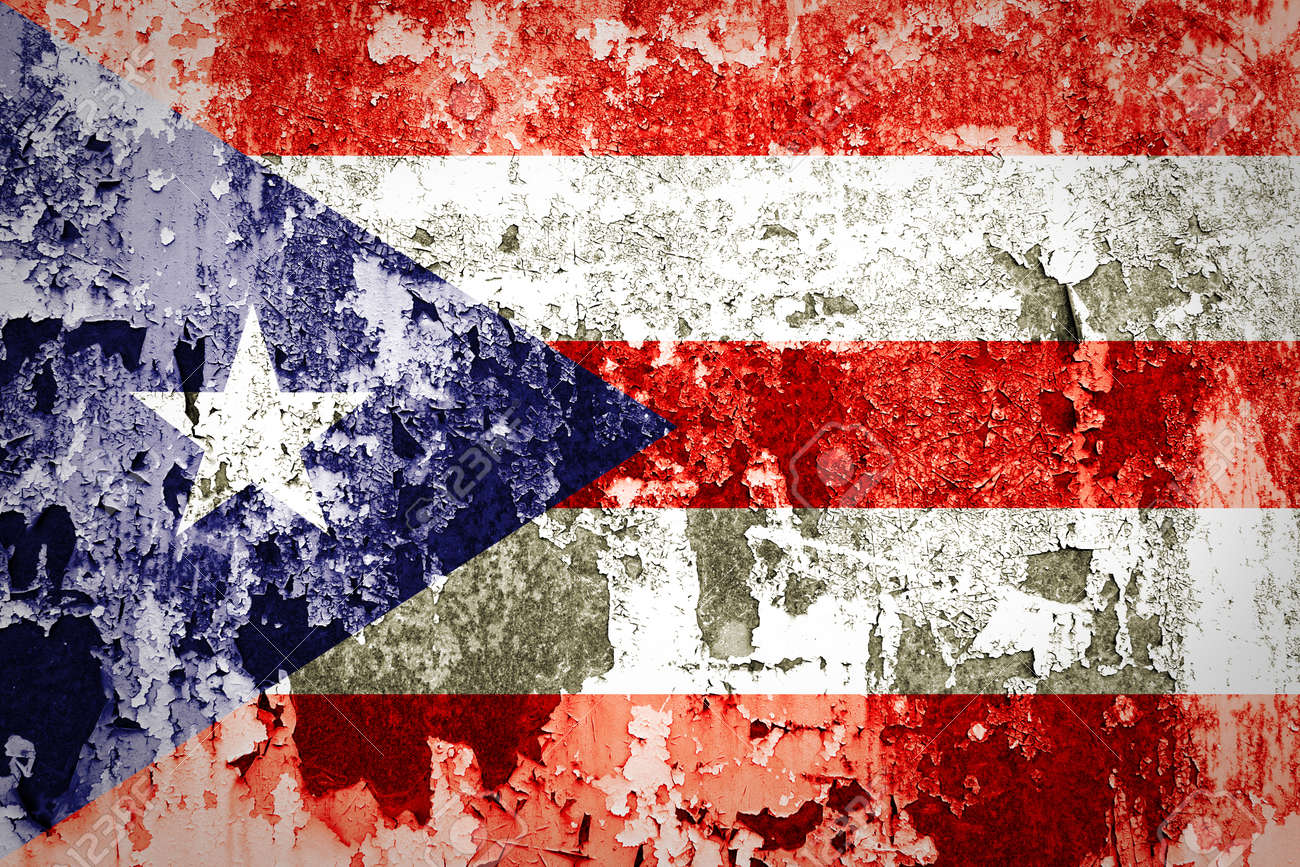 Puerto Rico Flag On Grunge Wall Stock Photo Picture And Royalty
