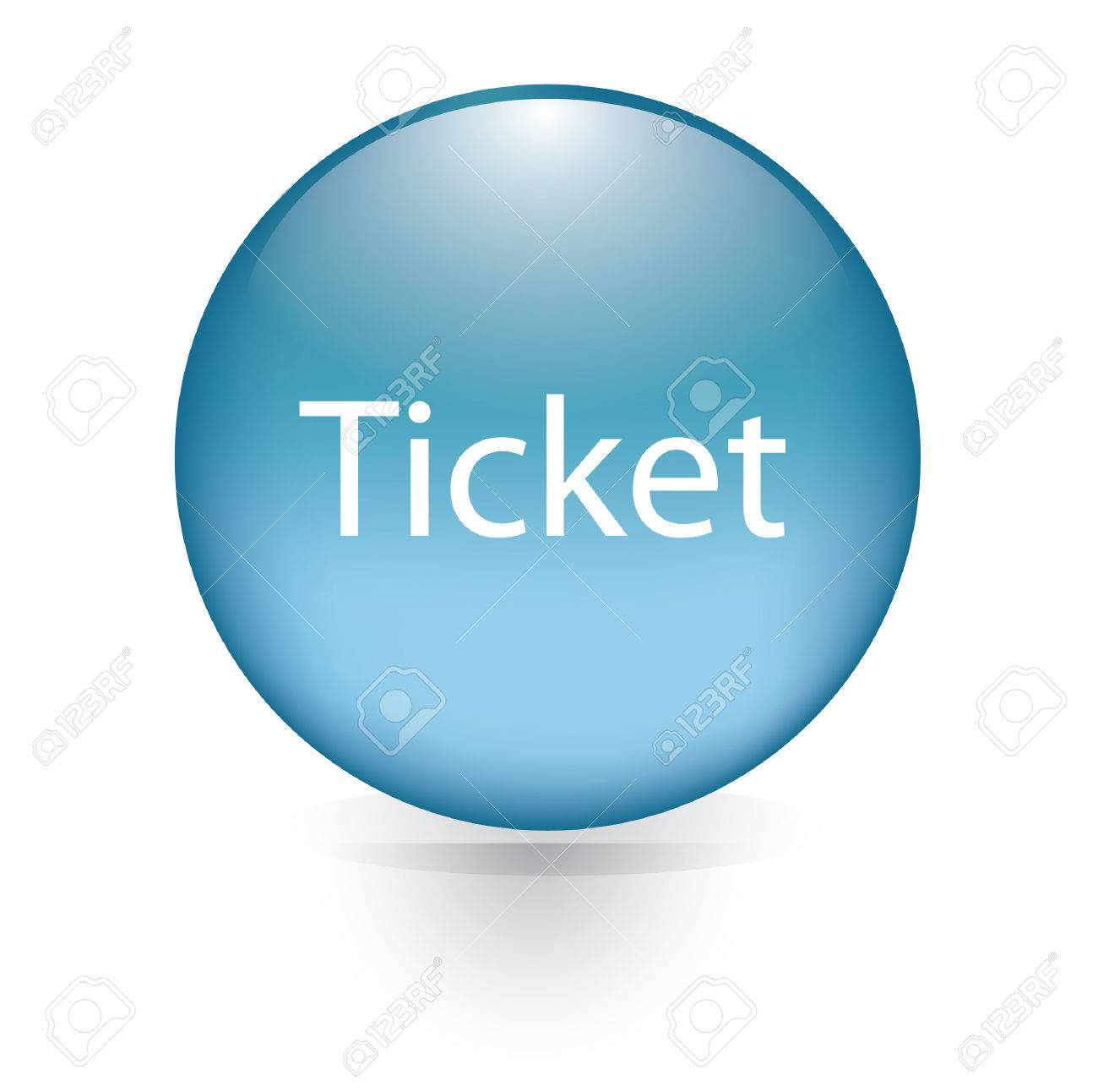 ticket word blue button royalty cliparts vectors and stock ticket word blue button stock vector 30349348