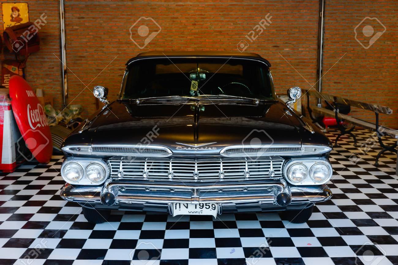 BANGKOK, THAILAND - March 26, 2017: Show Old Vintage Chevrolet ...
