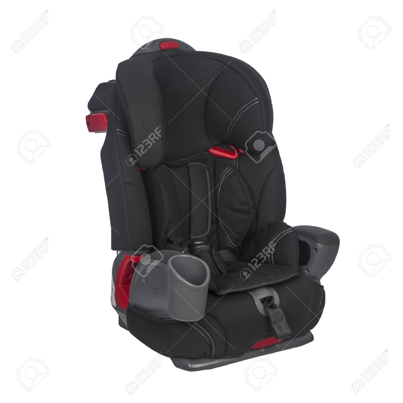 Schwarzer Stuhl Mit Metallrahmen Für Den Transport Von Kindern