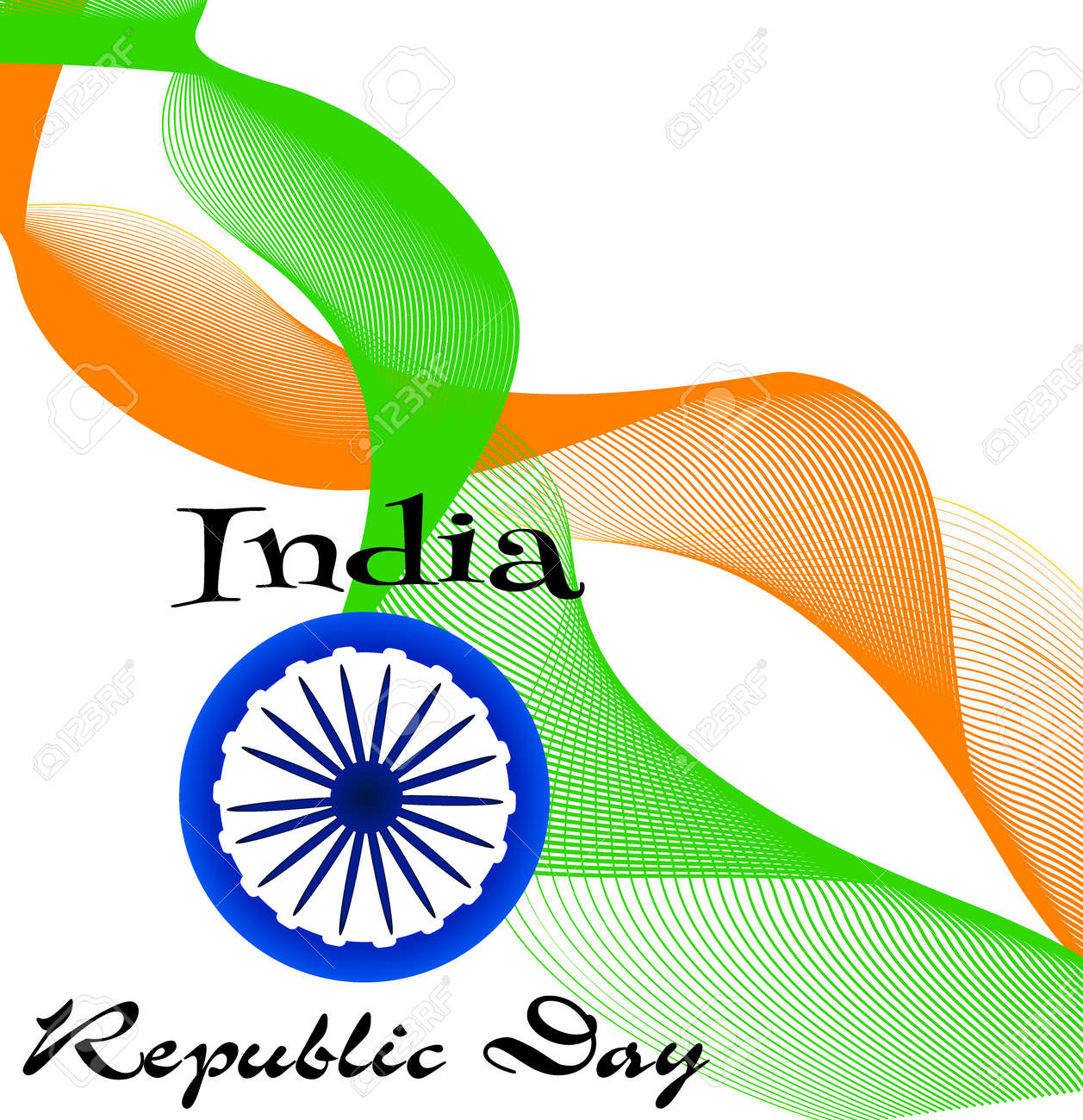 Creative Indian Independence Day Concept Beautiful Indian Flag