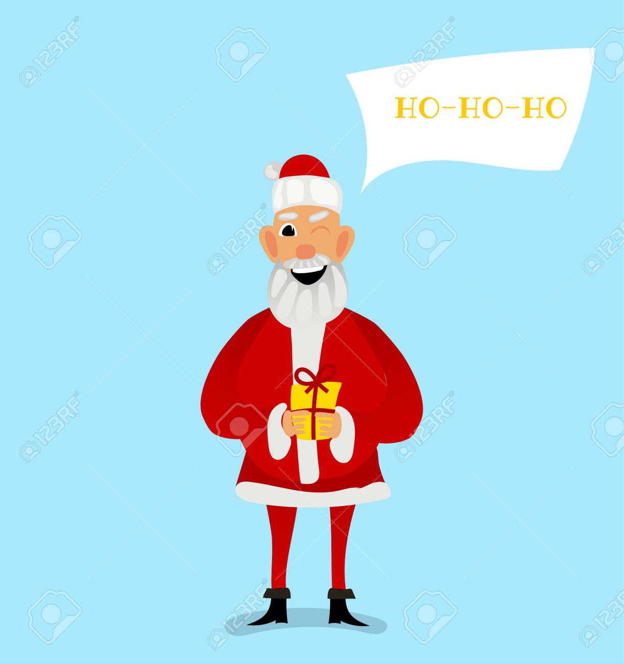 Santa Claus Greeting Card Design Royalty Free Cliparts Vectors