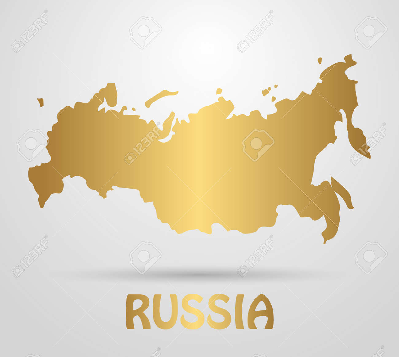 Russian Federation map of Russia. Beautiful gradient map of the..
