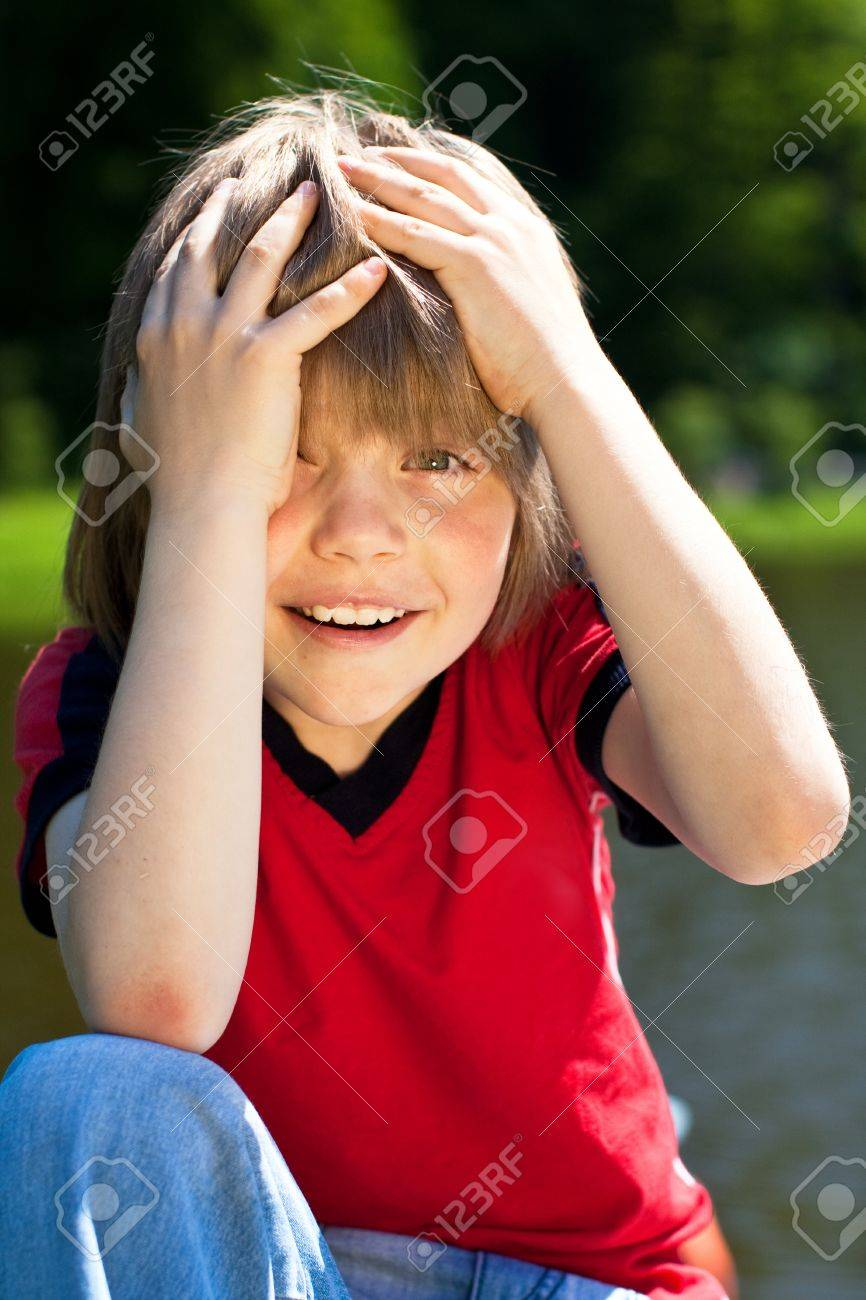 Young boy with an excited expression Stock Photo - 9908113