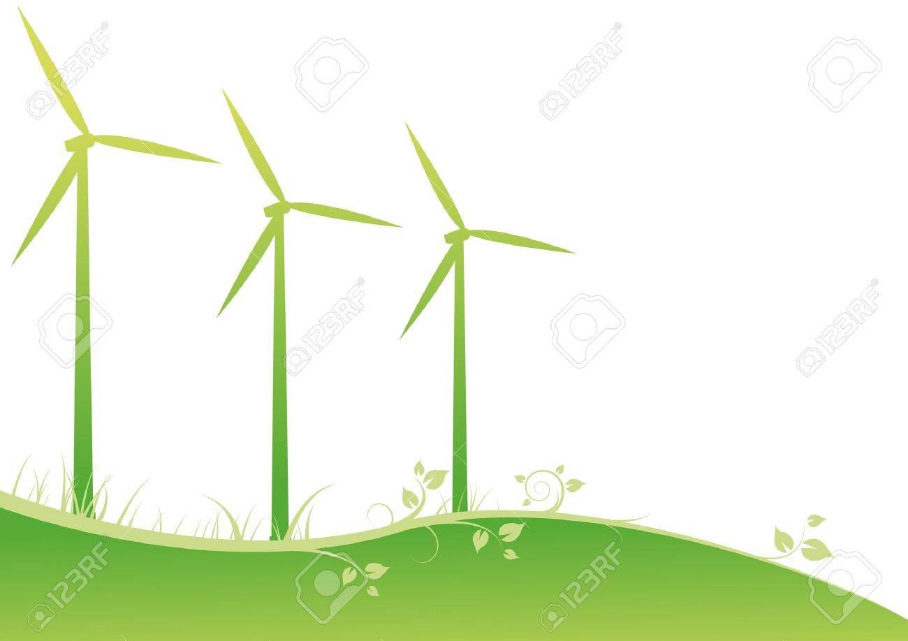 windmills Stock Vector - 10942386