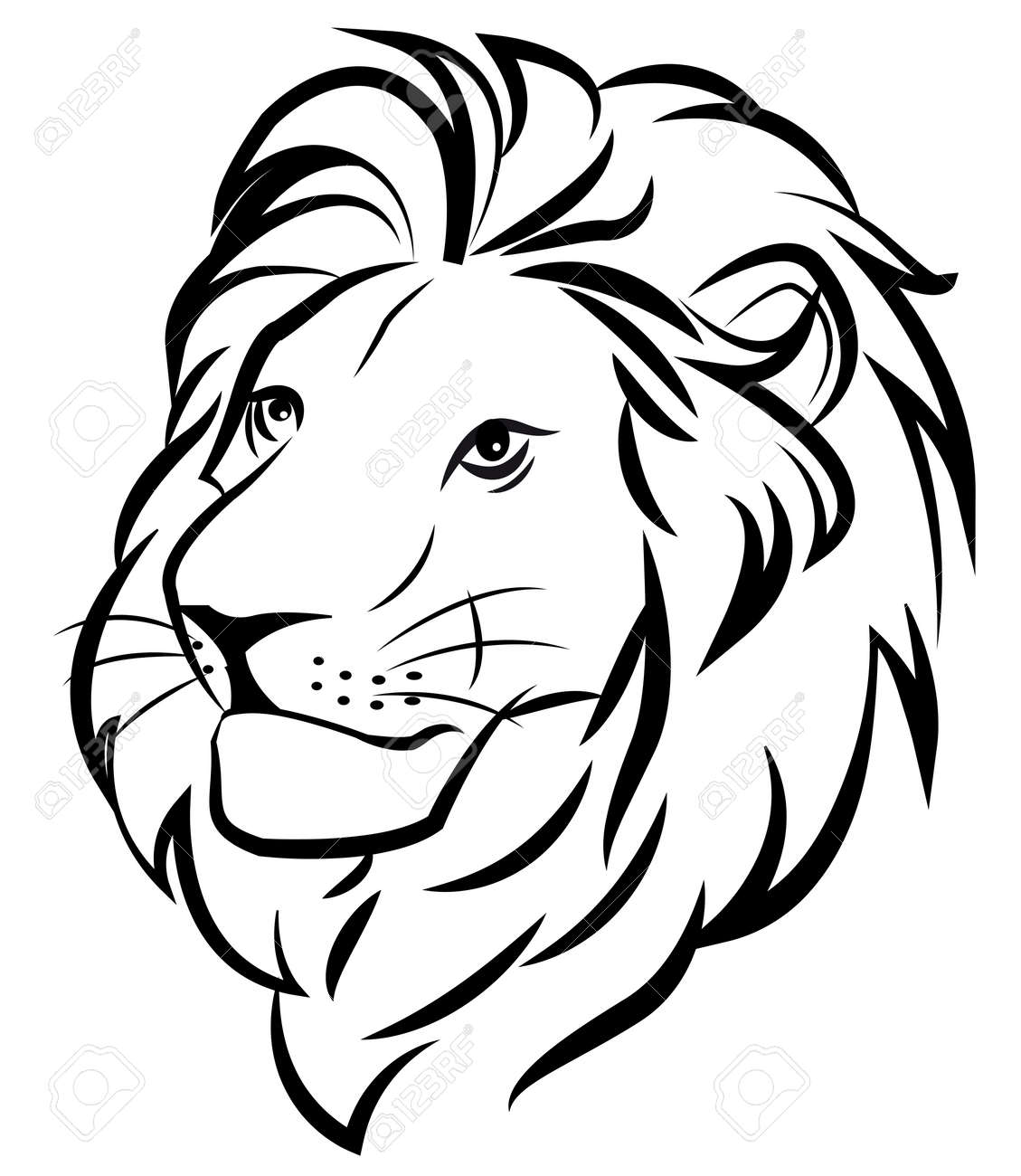 Lion Royalty Free Cliparts Vectors And Stock Illustration Image 40395953 Learn how to draw lion head outline pictures using these outlines or print just for coloring. lion