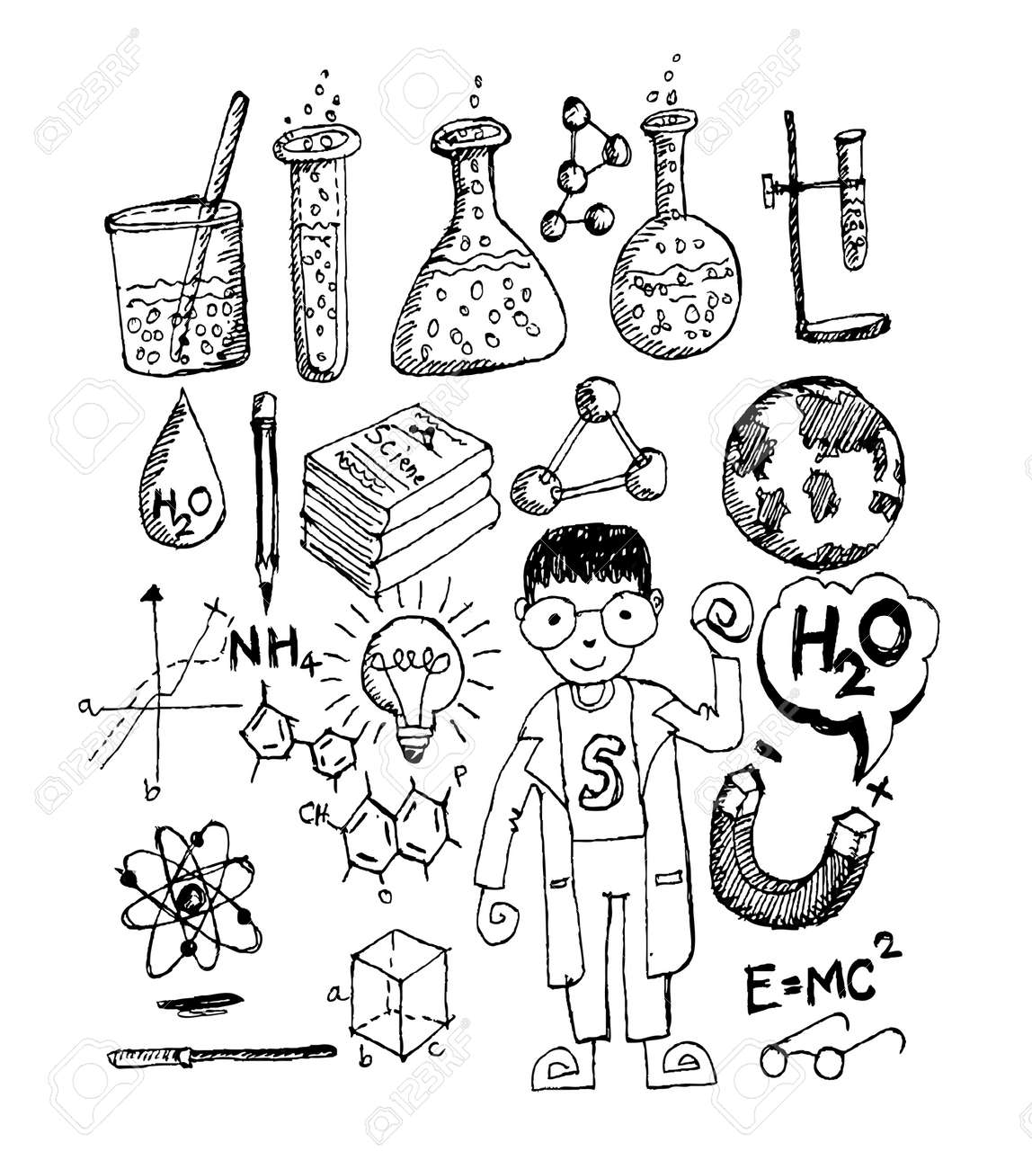 science object in doodle style design Stock Vector - 22850869