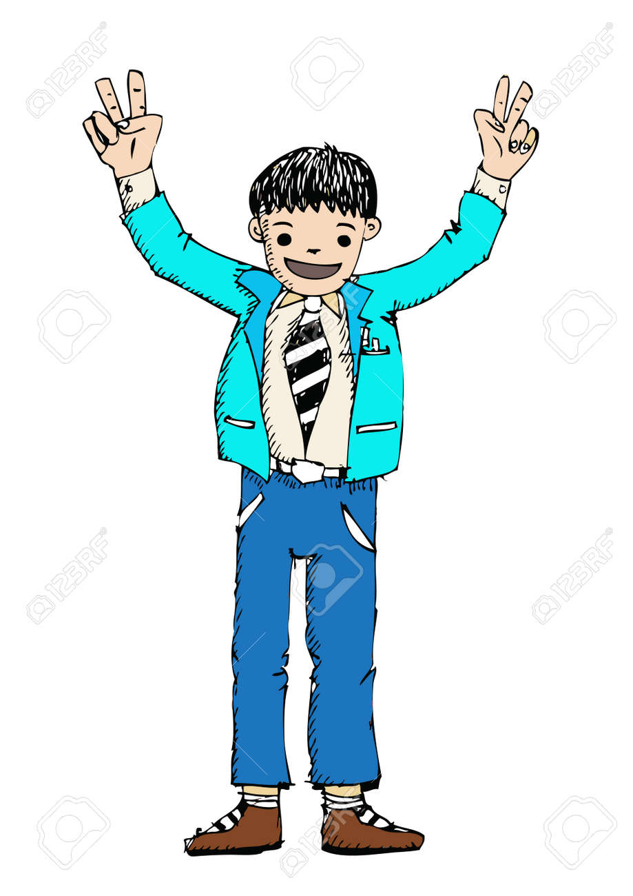 business man and business people  cartoon Stock Vector - 22785902