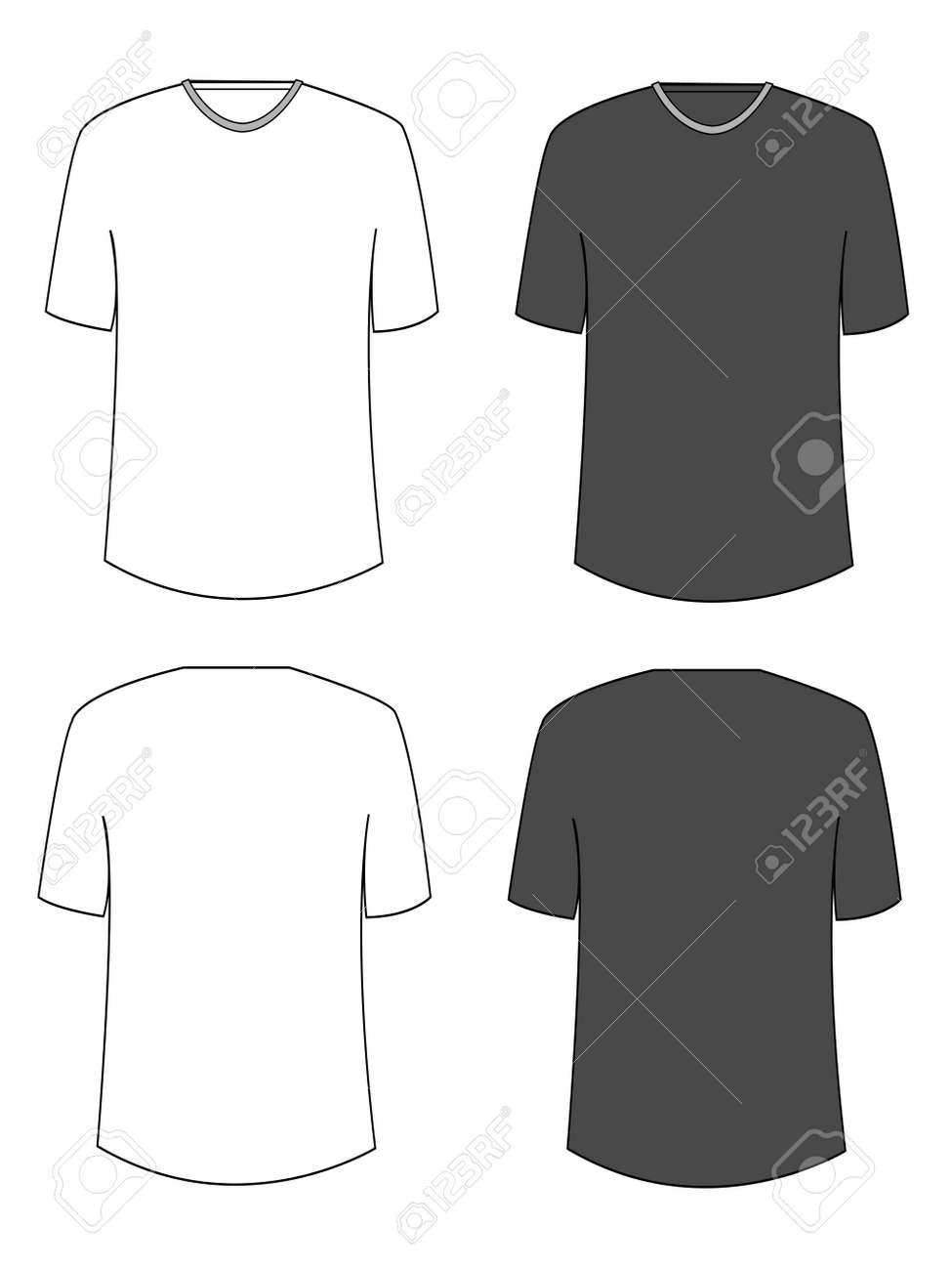 Apparel Shirts Template T-shirt Templates Royalty Free Cliparts ...
