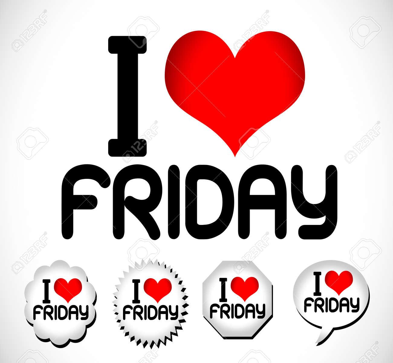 I Love The Days of the Week Sunday , Monday , Tuesday , Wednesday , Thursday , Friday , Saturday , Stock Vector - 24290418