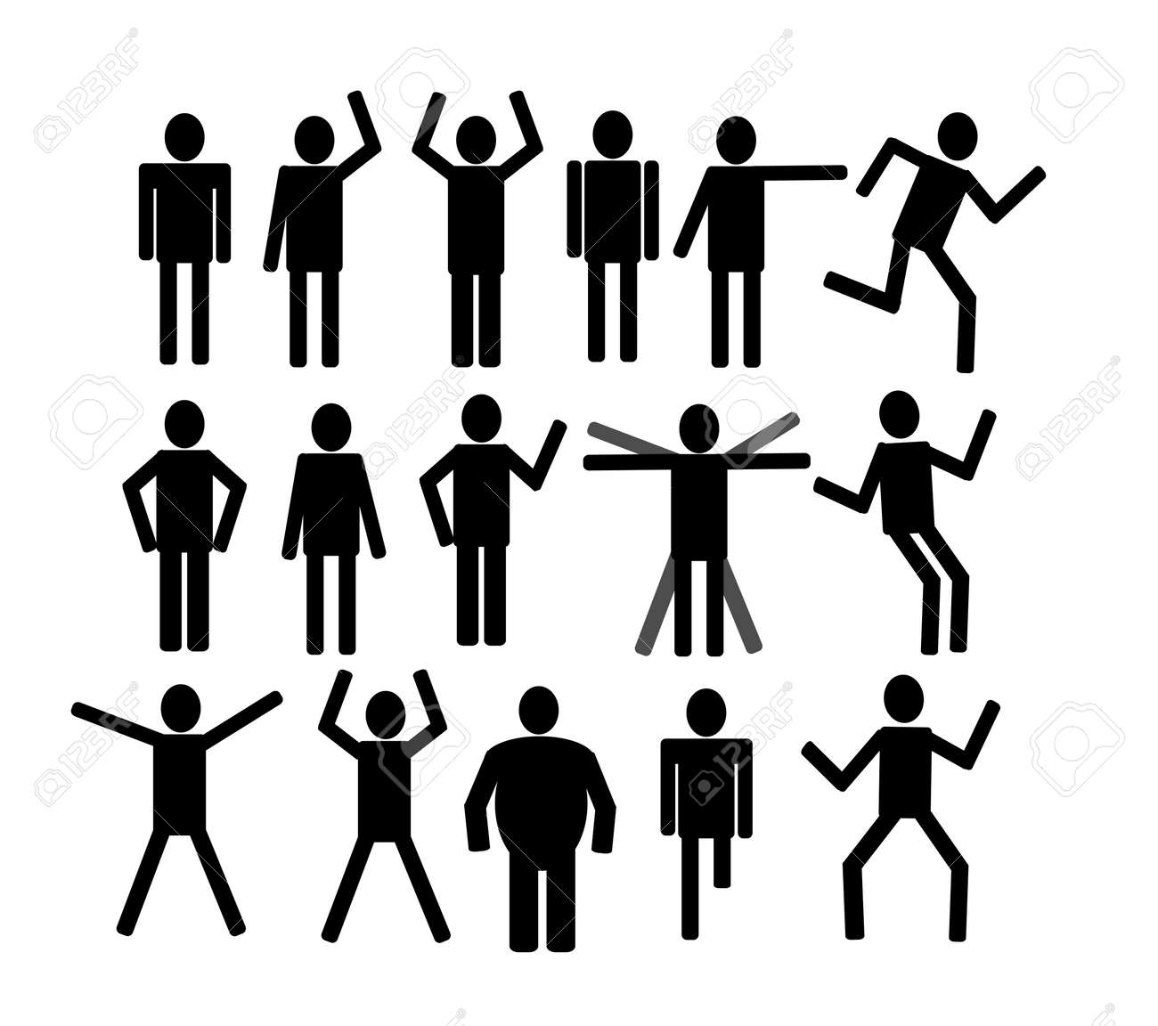 Pictograms people Man Icon Sign Symbol Pictogram Stock Vector - 25157621