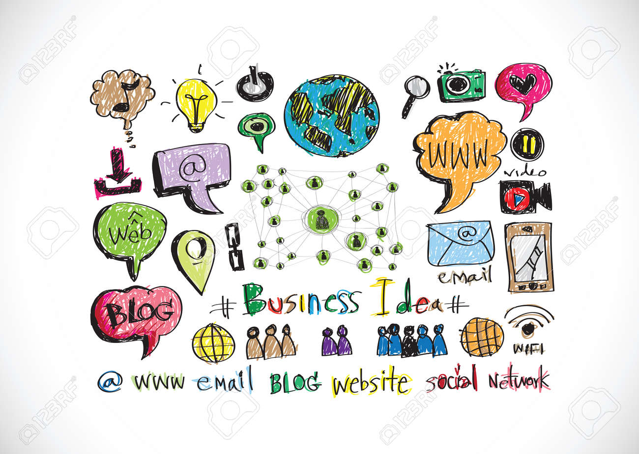 Symbols Of Internet Services Icons Royalty Free Cliparts Vectors