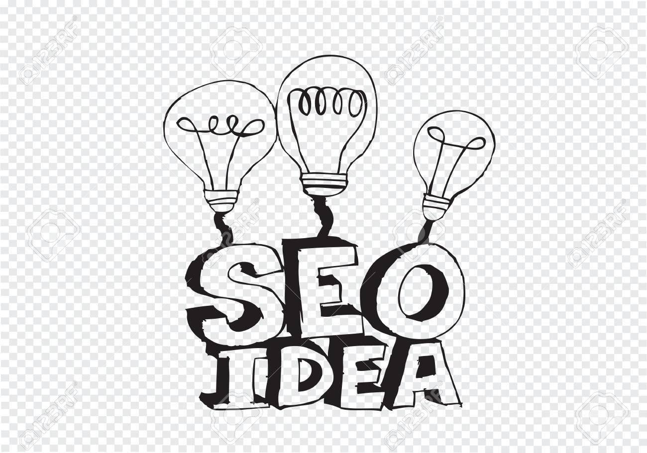 Bulb SEO Idea Search Engine Optimization concept design Stock Vector - 28262705