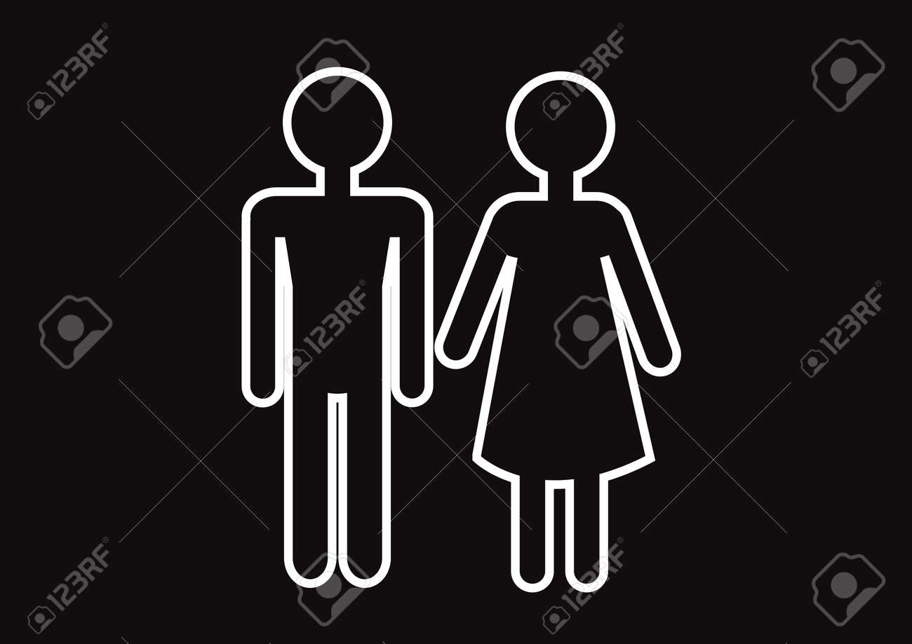 Pictogram Man Woman Sign icons, toilet sign or restroom icon Stock Vector - 29897617