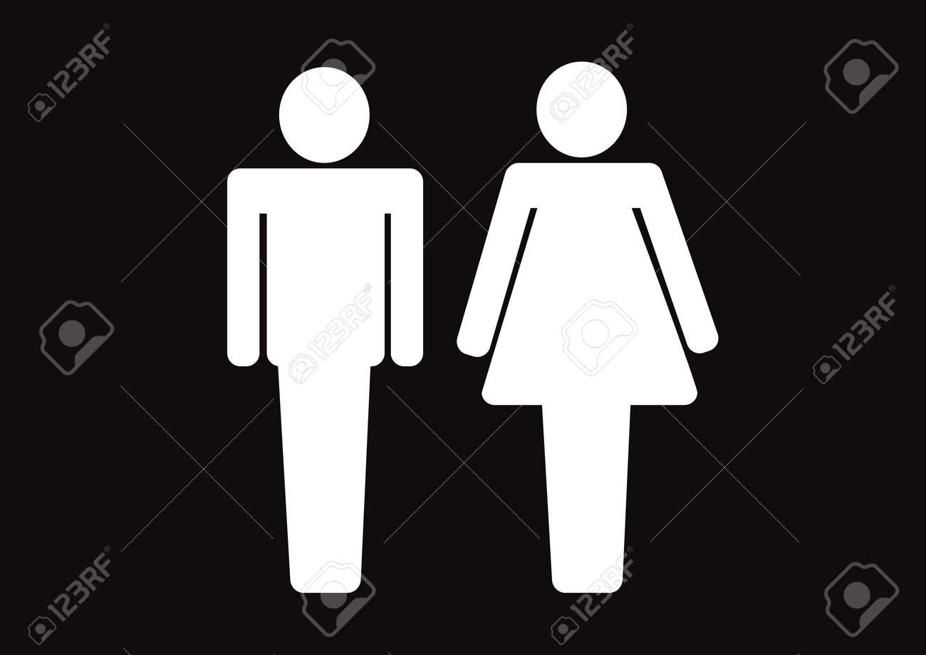 Pictogram Man Woman Sign icons  toilet sign or restroom icon Stock Vector    29898199. Pictogram Man Woman Sign Icons  Toilet Sign Or Restroom Icon
