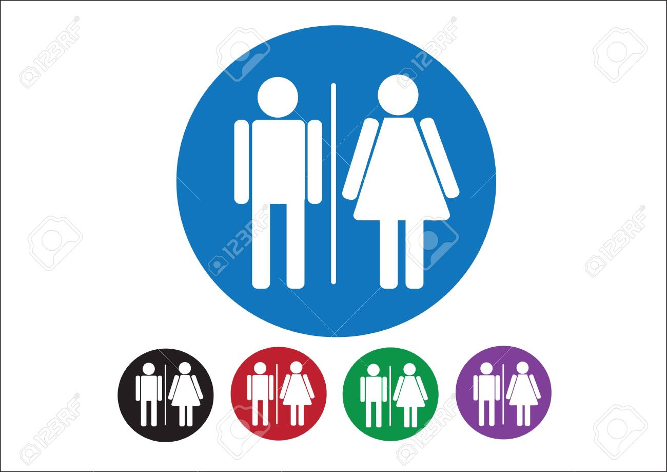 Pictogram Man Woman Sign icons, toilet sign or restroom icon Stock Vector - 30131926