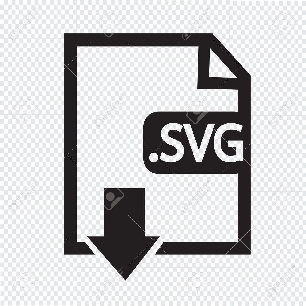 Image File type Format SVG icon Stock Vector - 38412135
