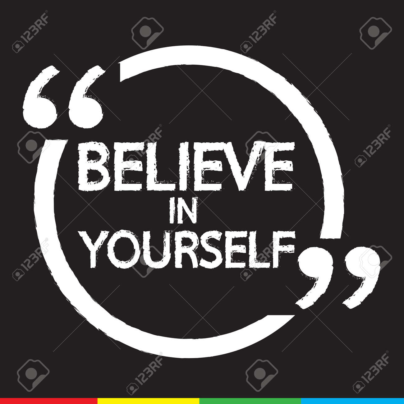 Believe In Yourself Lettering Illustration Design Royalty Free