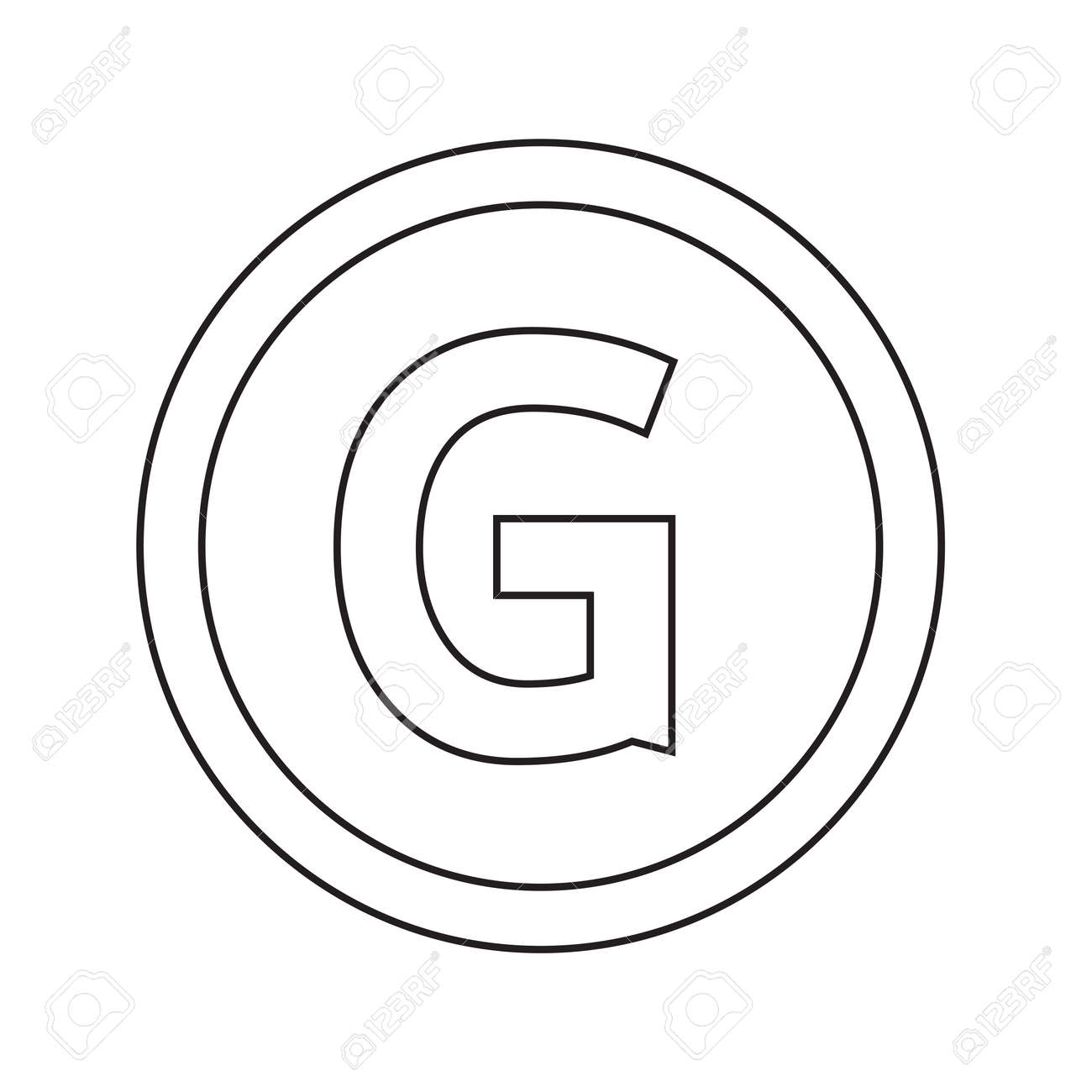 Basic Font For Letter G Icon Illustration Design Royalty Free