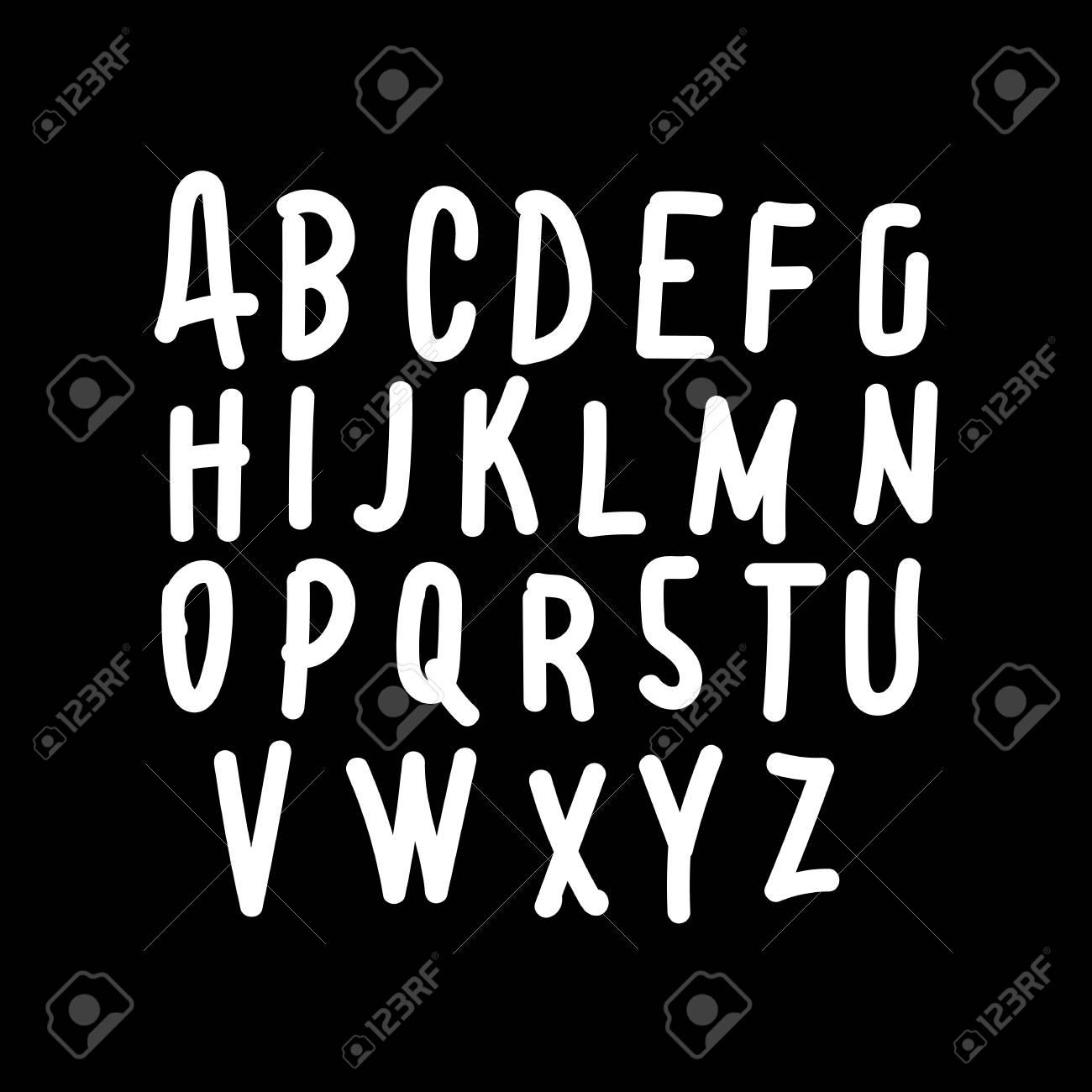 Hand Drawing Letter Font Icon Illustration Design