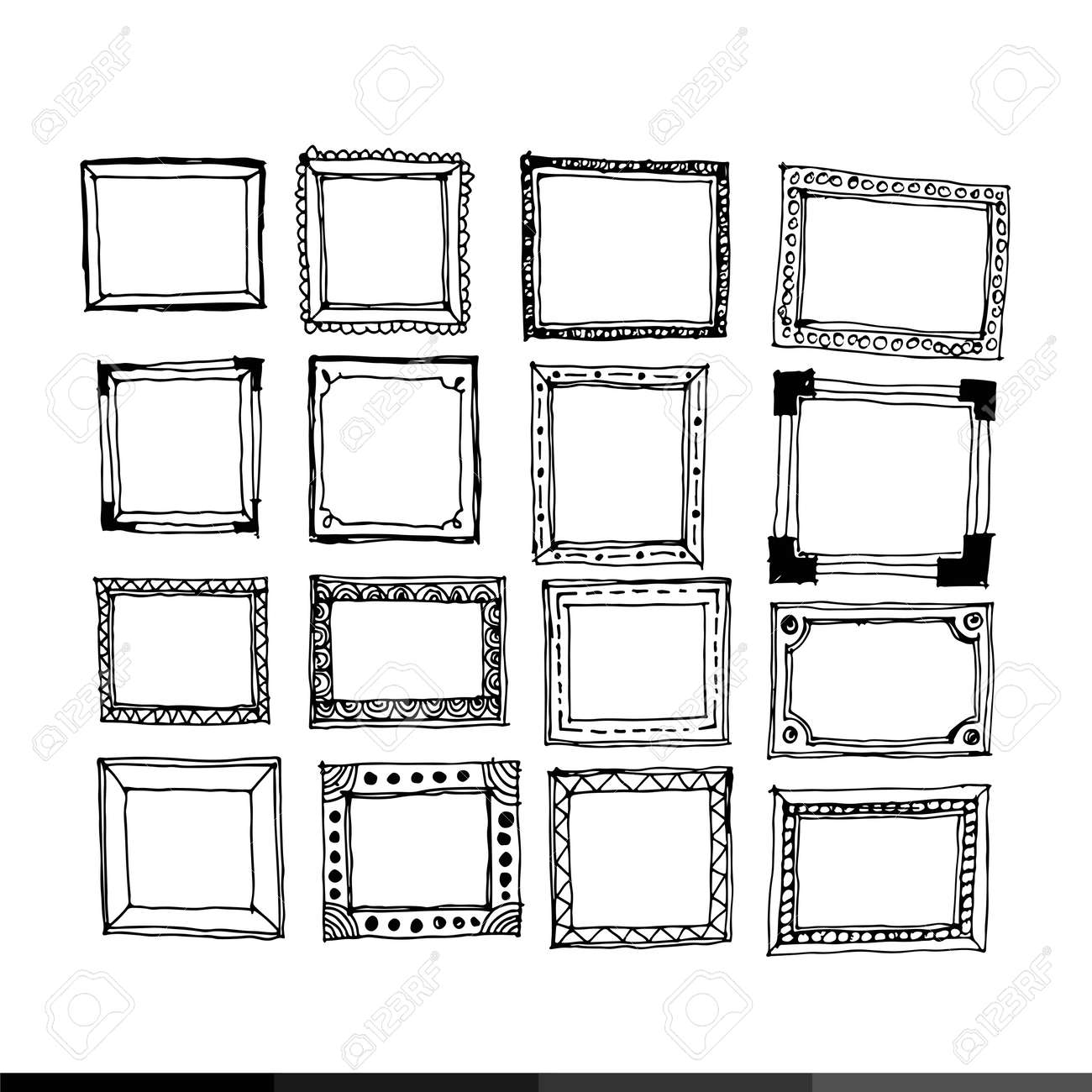 Hand Draw Frame Icon Illustration Design Royalty Free Cliparts