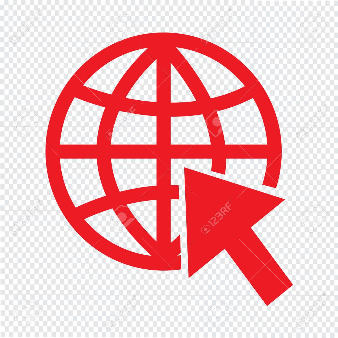 924fadff151aa Foto de archivo - Ir a la ilustración de vector de icono de Internet de  sitio web