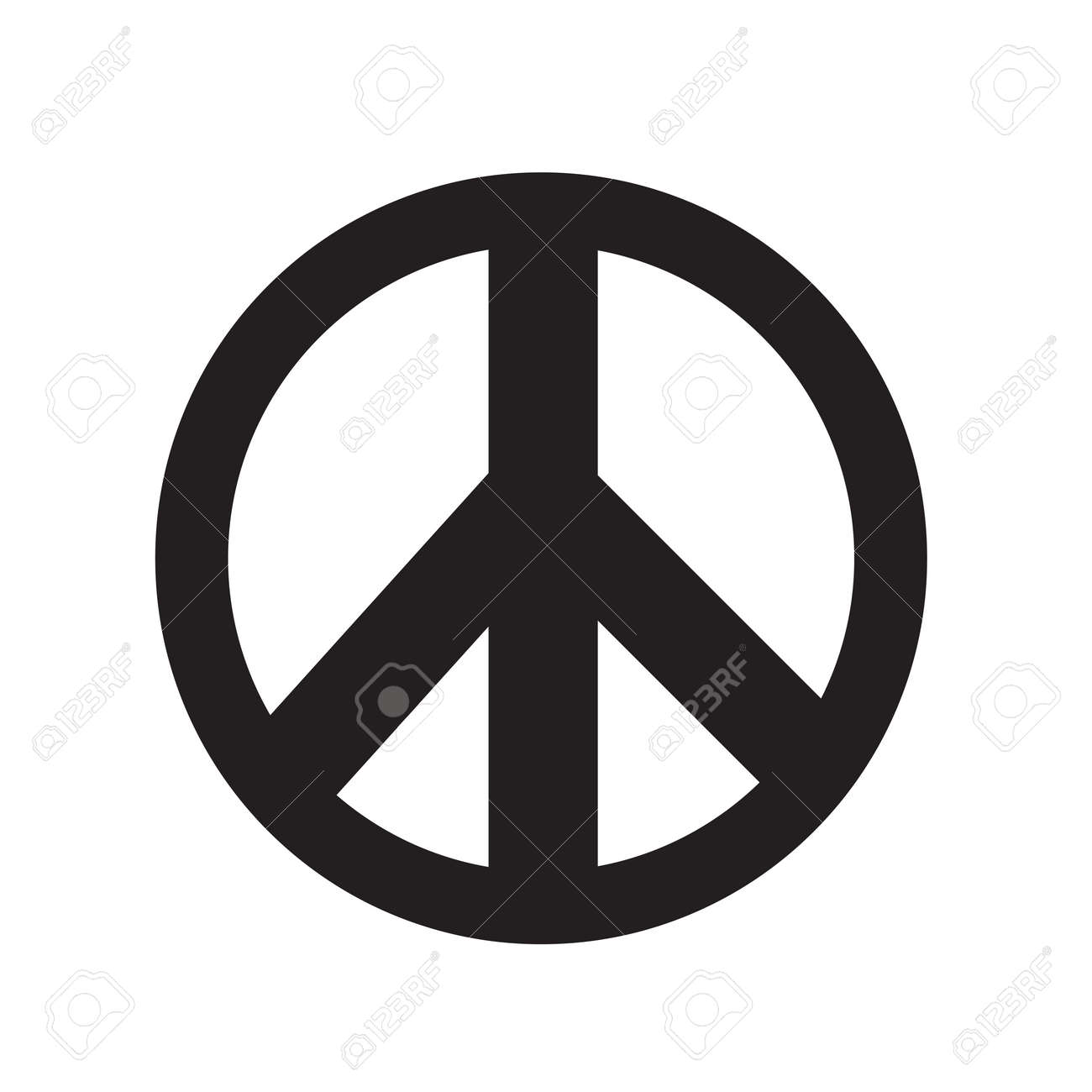 peace sign icon vector illustration royalty free cliparts vectors rh 123rf com vector peace sign fingers vector peace sign with hands