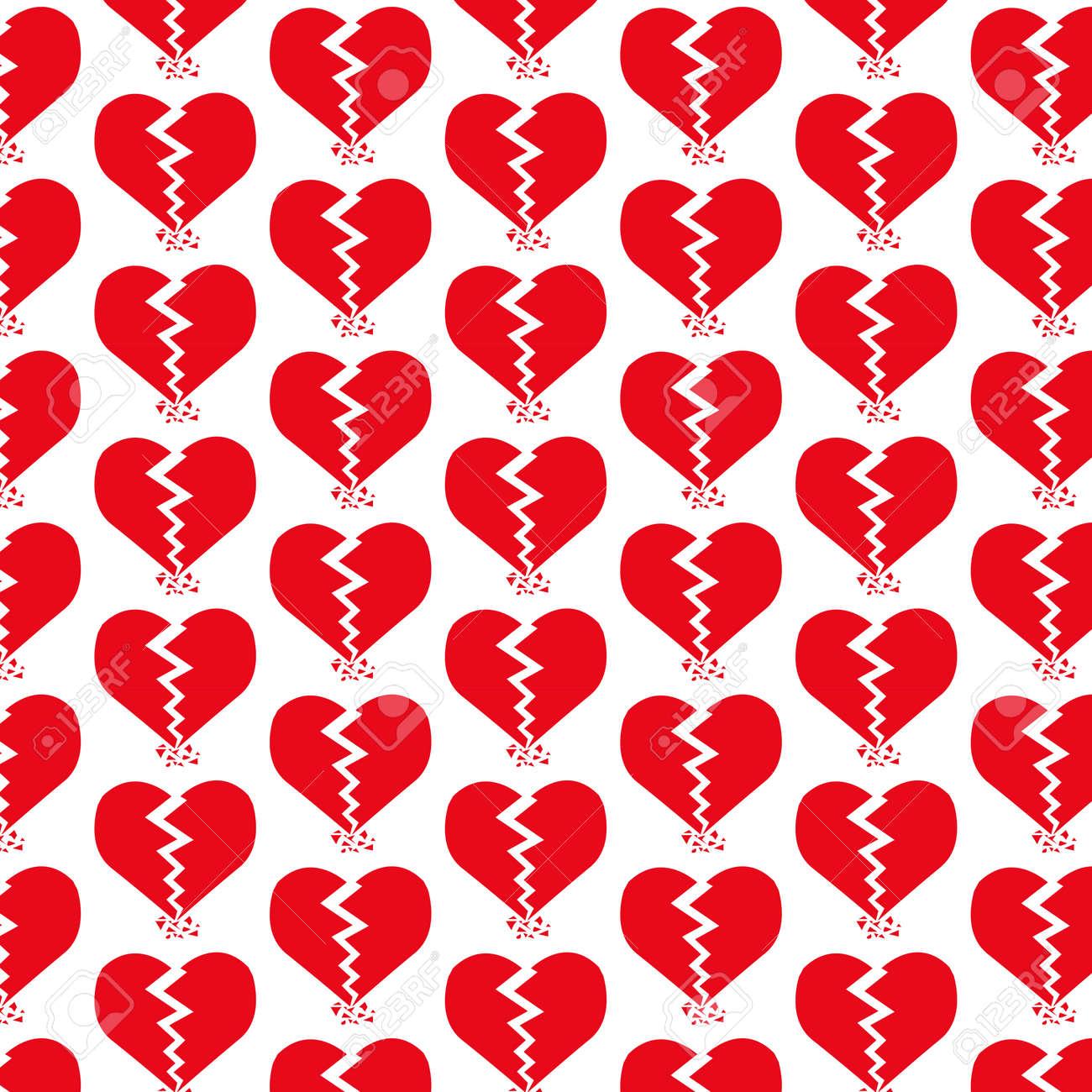 79495072 pattern background broken heart icon