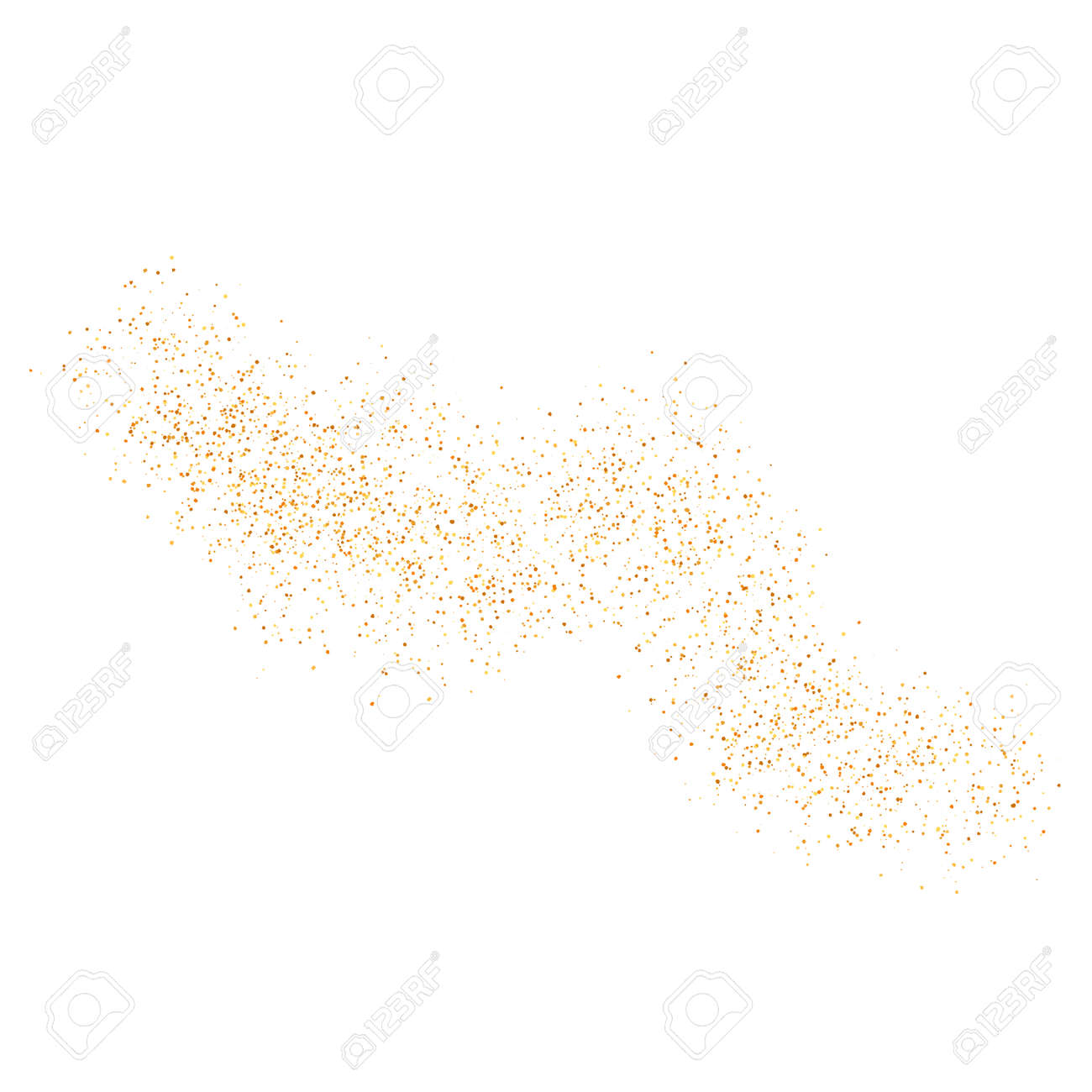 The texture of golden sand on a transparent background. Vector illustration. - 159234768