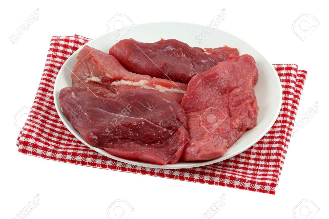 Closeup photo of fresh Ostrich meat - sirloin steak Stock Photo - 11413817