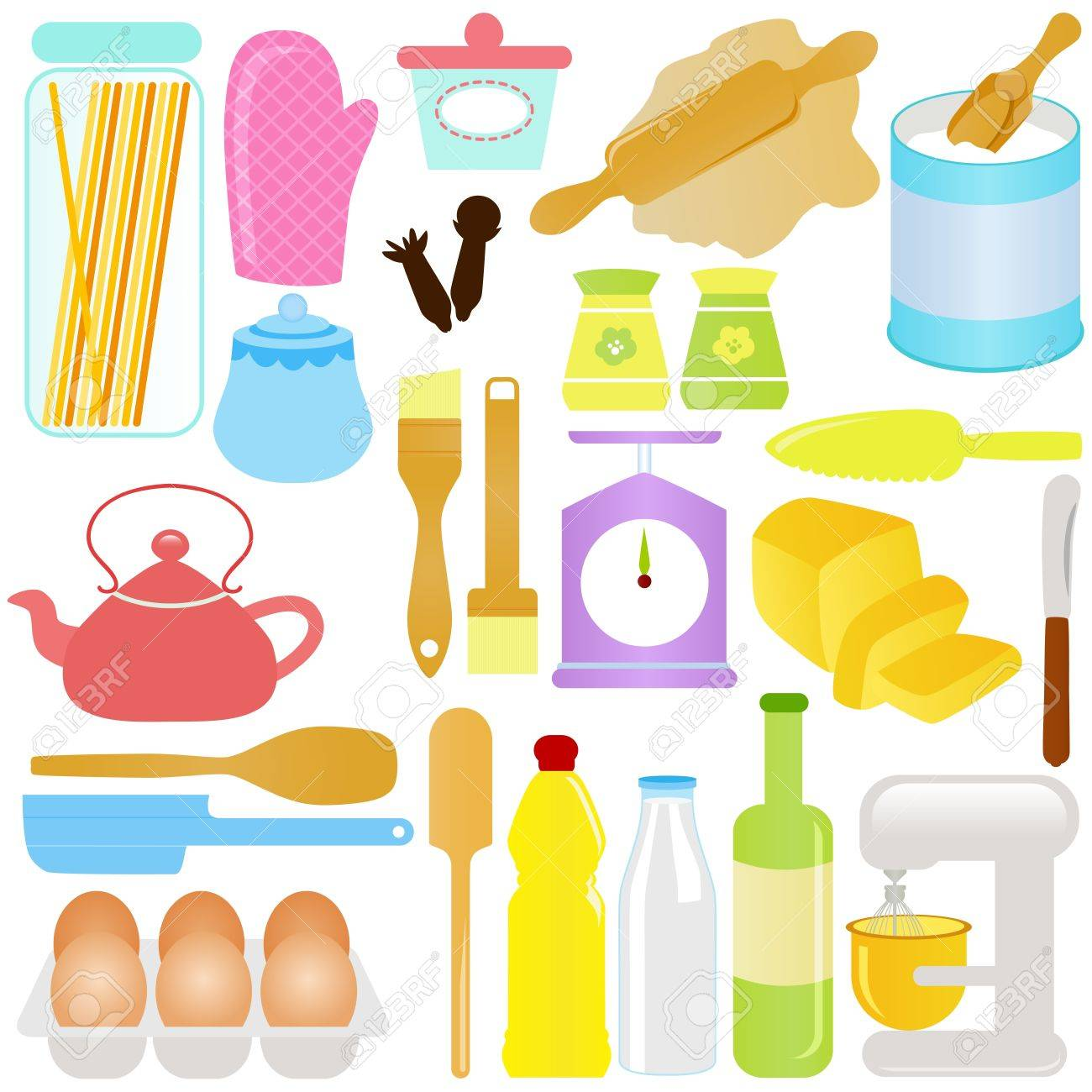 cute Icons : Cooking, Baking Theme, isolated on white Stock Vector - 12119558