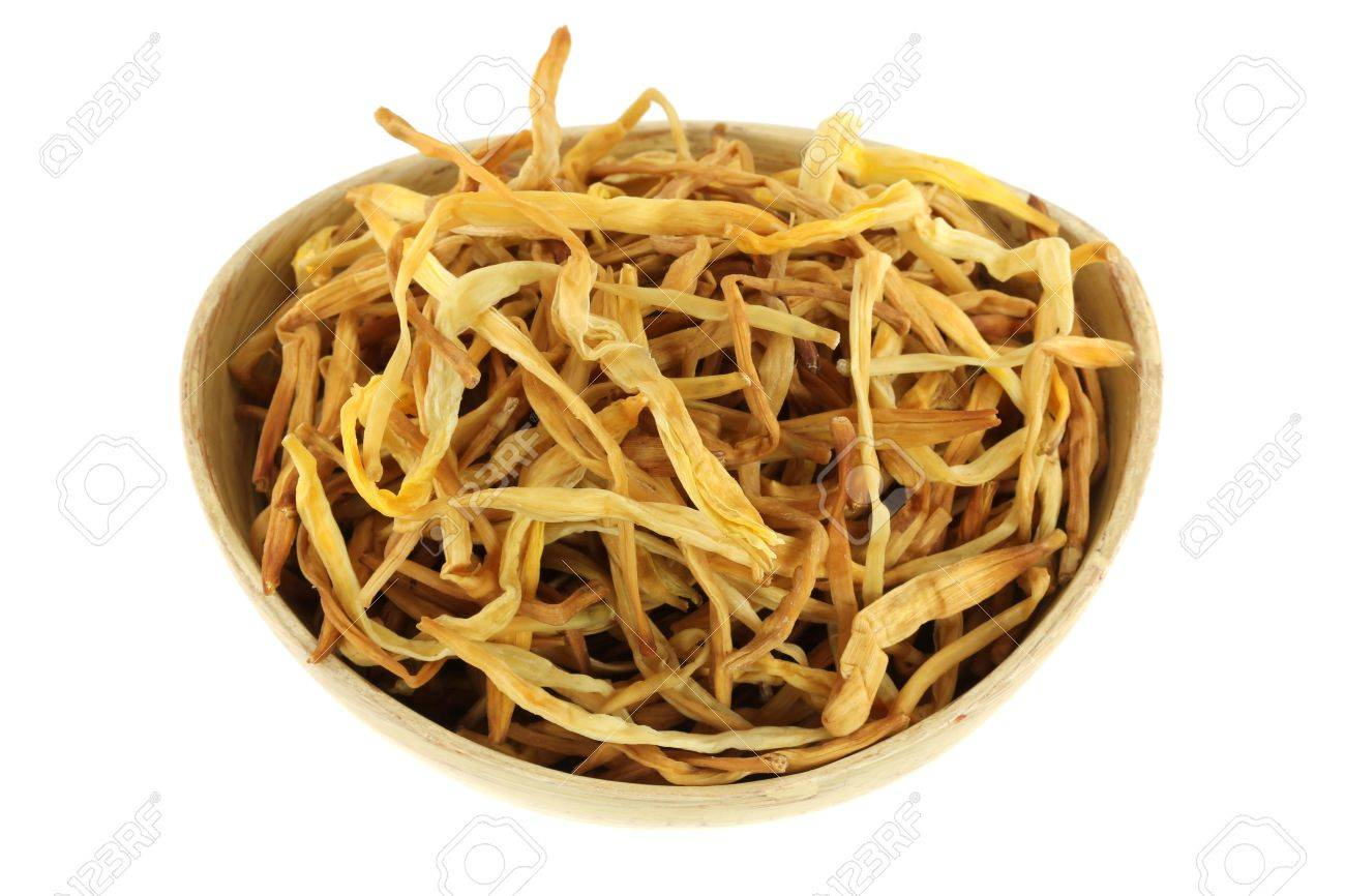 Closeup photography of chinese medical herb a bowl of dried stock closeup photography of chinese medical herb a bowl of dried lily buds lily flower isolated on izmirmasajfo