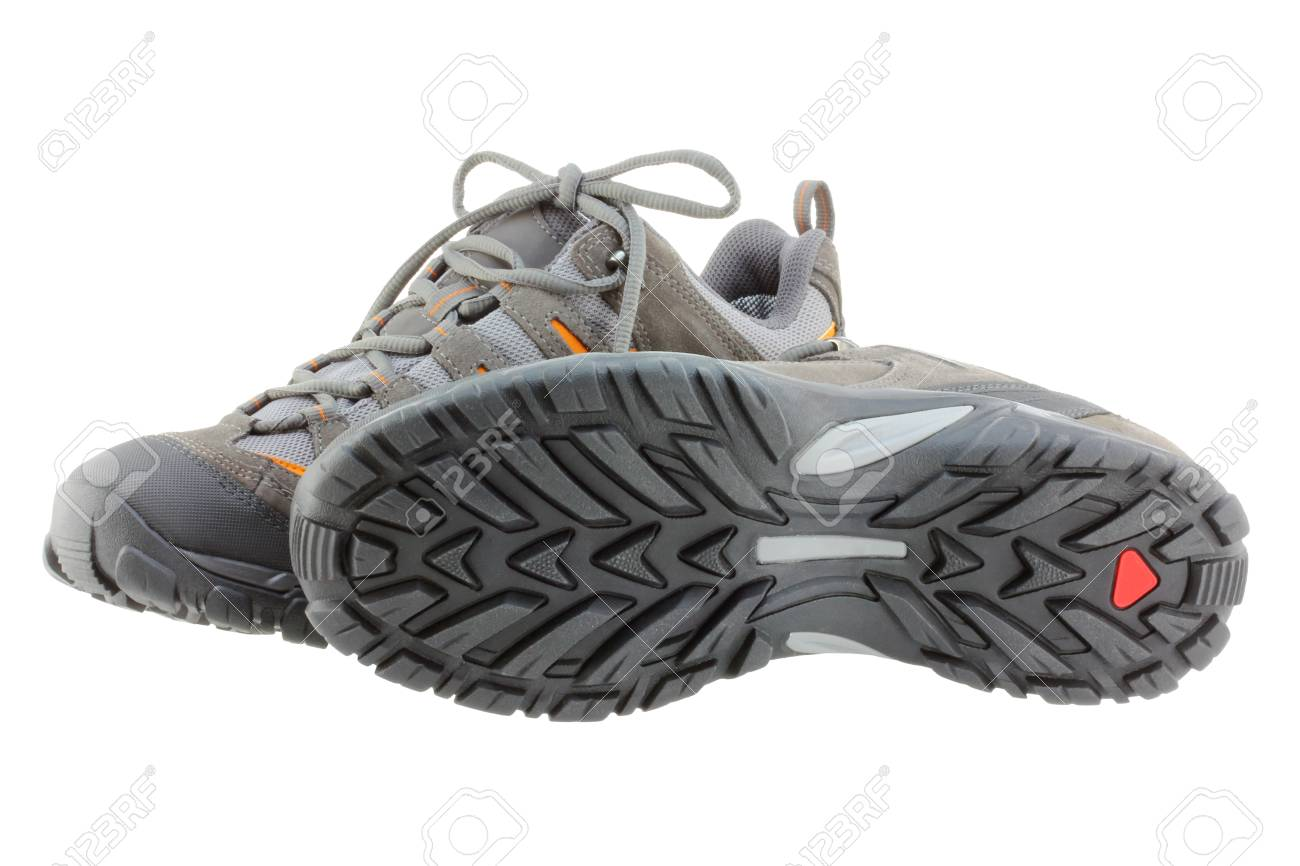 Lightweight Day Hiking Boots Shoes For Men Isolated On White