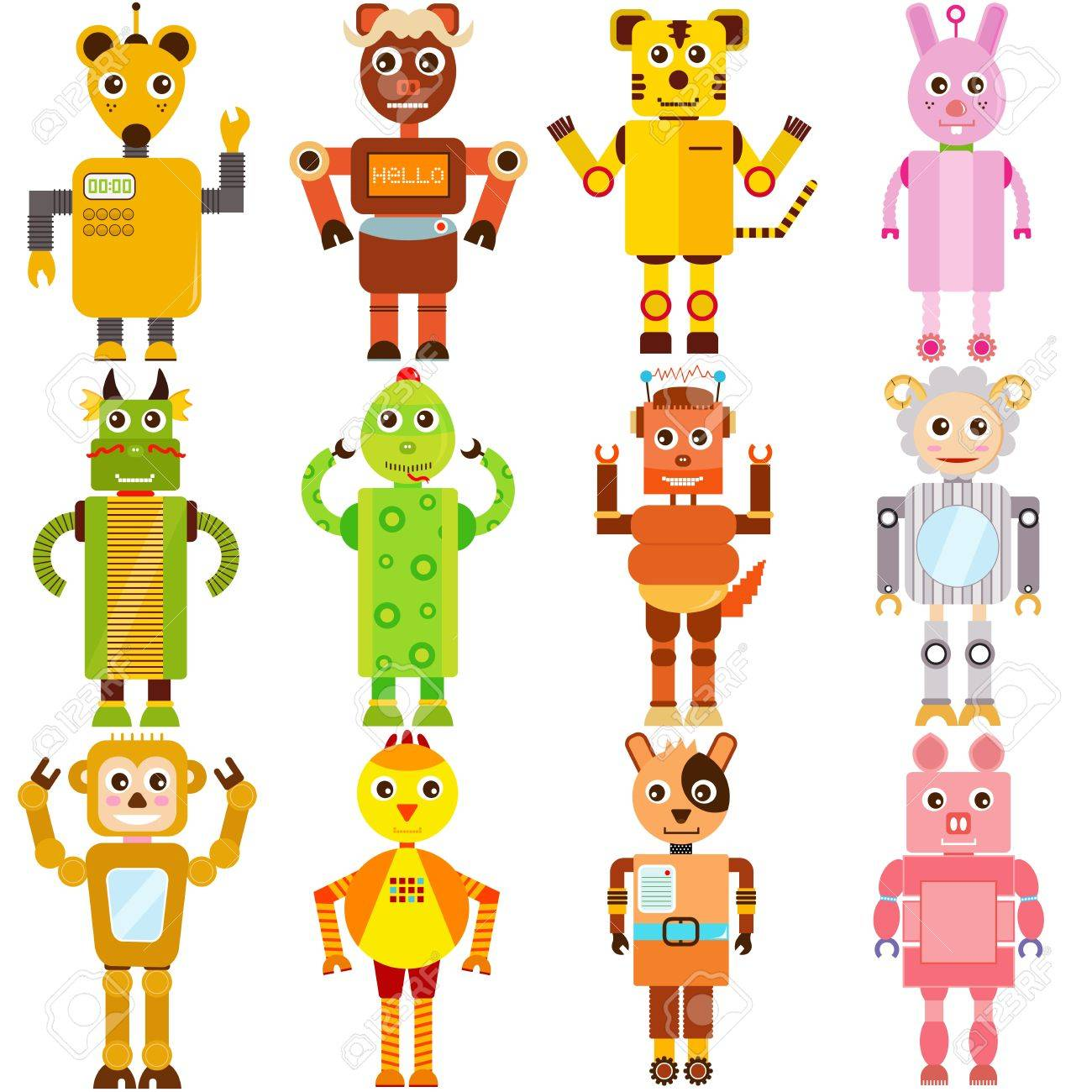 Cute Robot Icon Cute Icons Twelve Robots