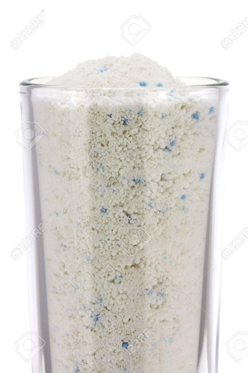 A Glass of Laundry Detergent   Washing Powder,  isolated on white background Stock Photo - 19008476
